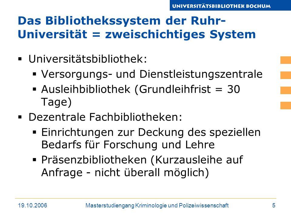 Das Bibliothekssystem der Ruhr-Universität = zweischichtiges System