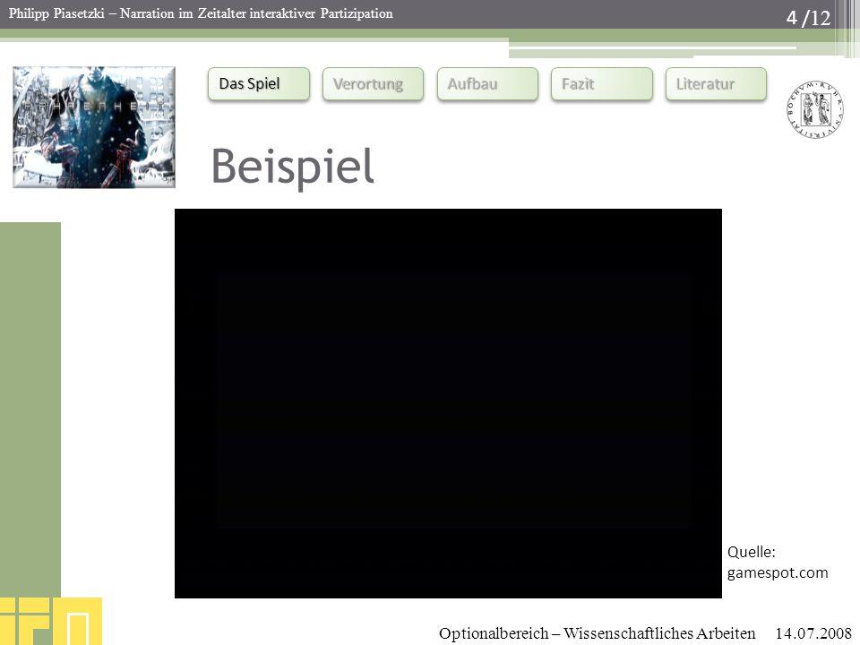 Beispiel Quelle: gamespot.com