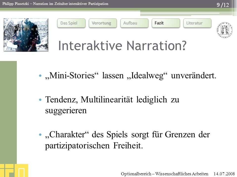 Interaktive Narration