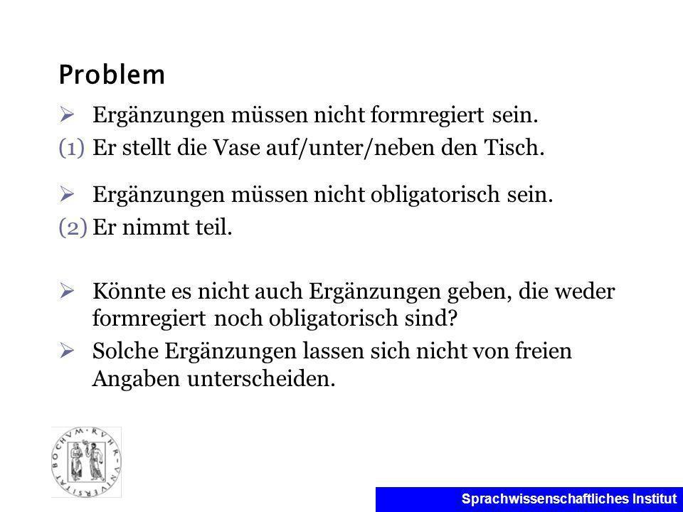 Problem Ergänzungen müssen nicht formregiert sein.