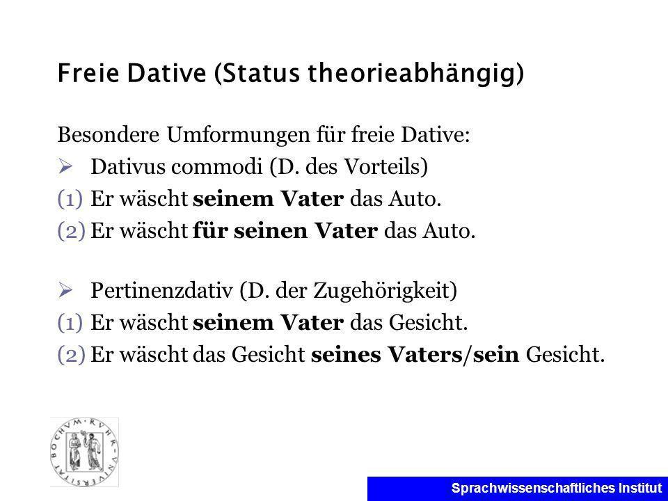 Freie Dative (Status theorieabhängig)