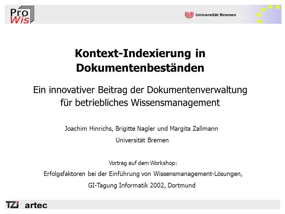 Kontext-Indexierung in Dokumentenbeständen