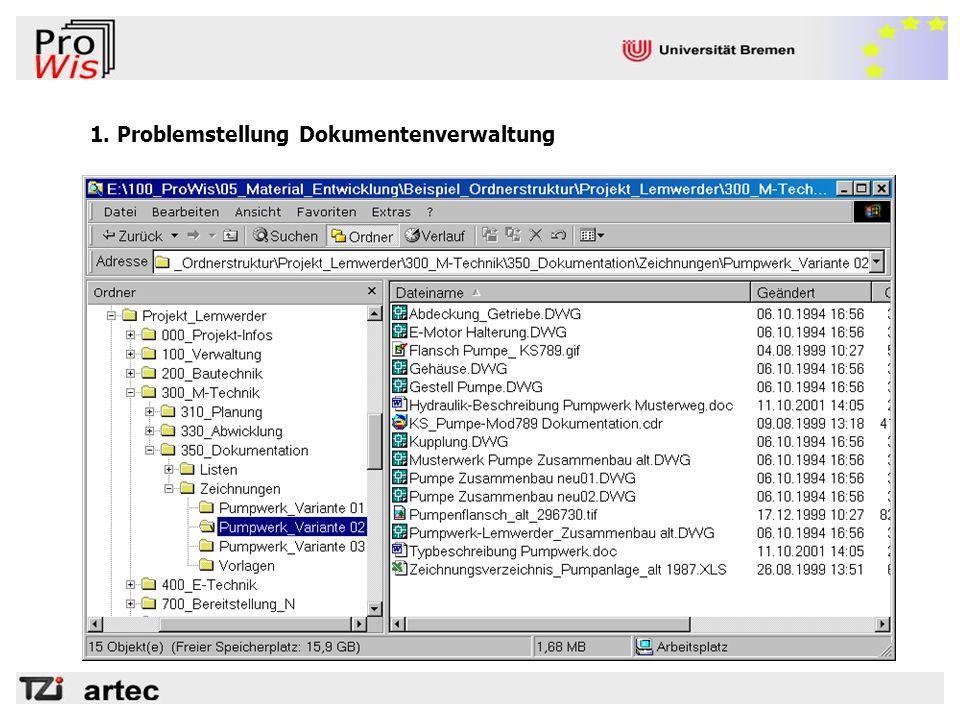 1. Problemstellung Dokumentenverwaltung