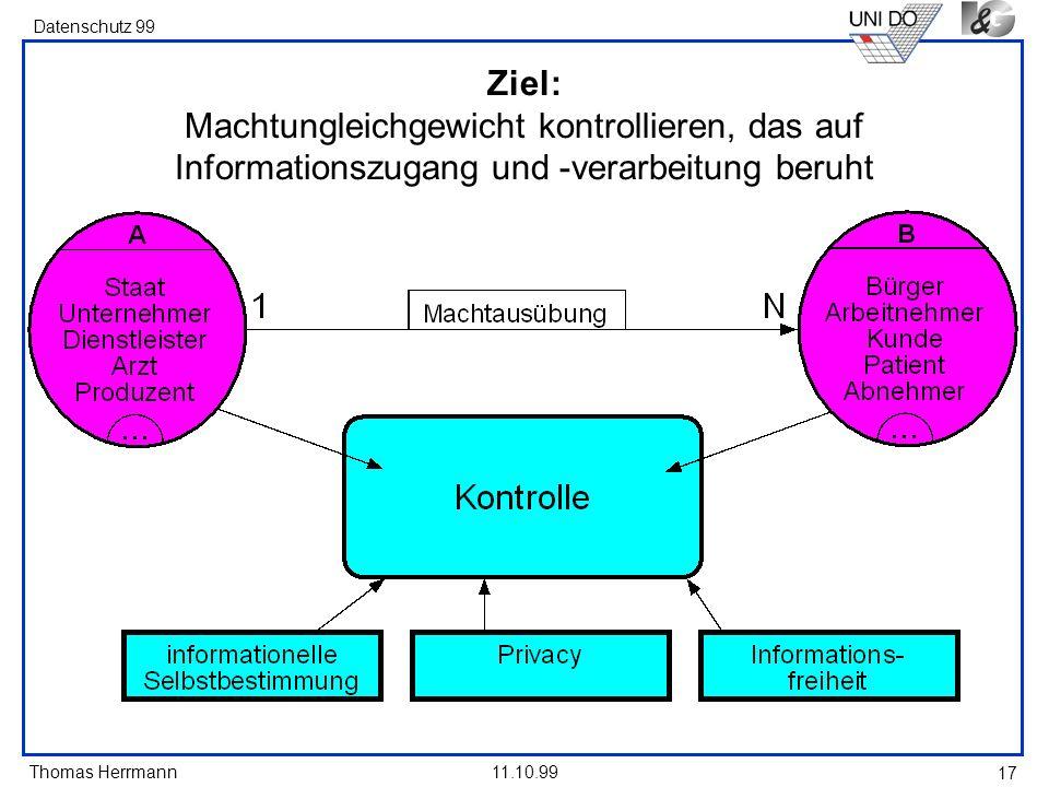 Ziel: Machtungleichgewicht kontrollieren, das auf Informationszugang und -verarbeitung beruht