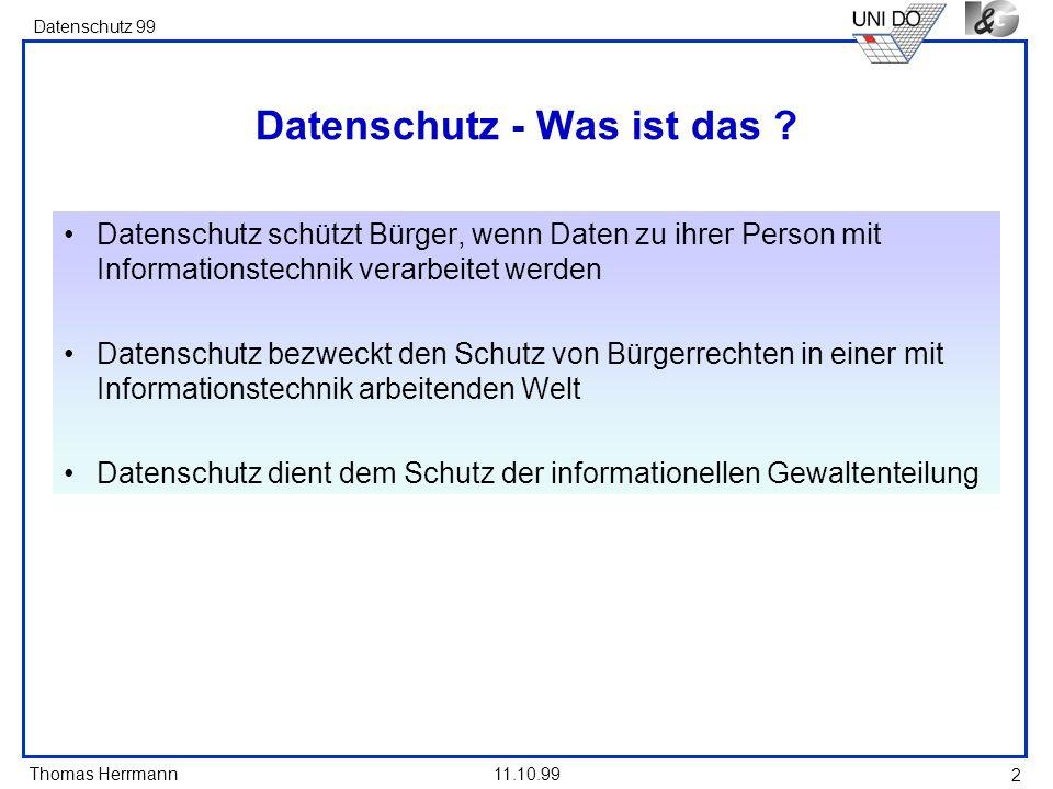 Datenschutz - Was ist das