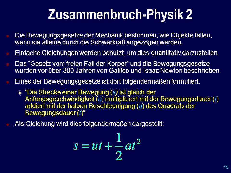 Zusammenbruch-Physik 2