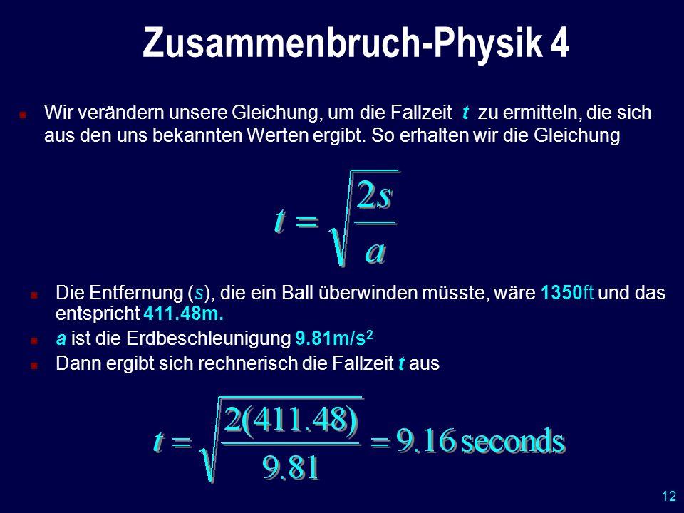 Zusammenbruch-Physik 4