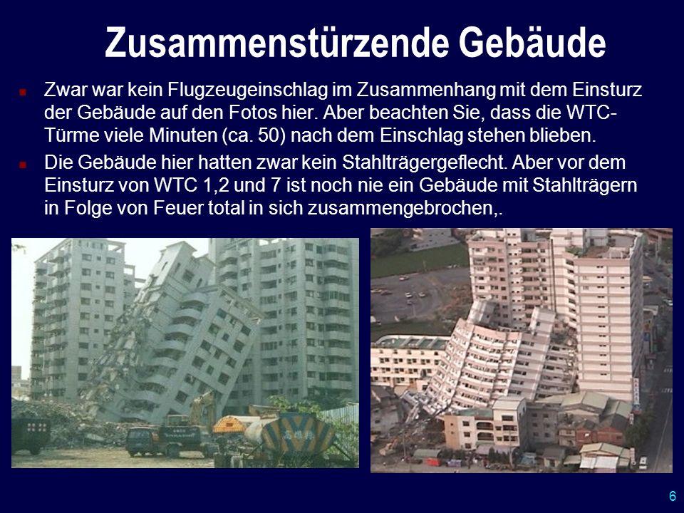 Zusammenstürzende Gebäude