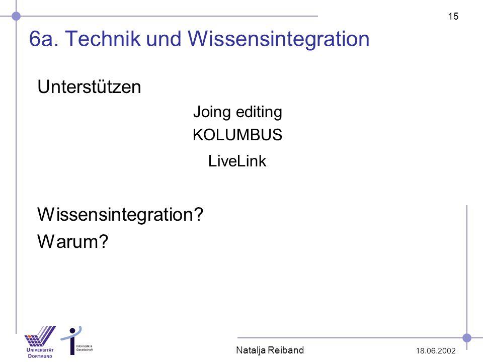 6a. Technik und Wissensintegration