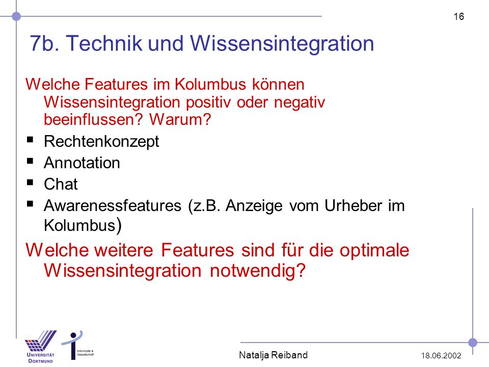 7b. Technik und Wissensintegration