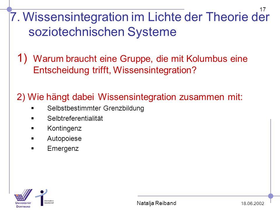 7. Wissensintegration im Lichte der Theorie der soziotechnischen Systeme
