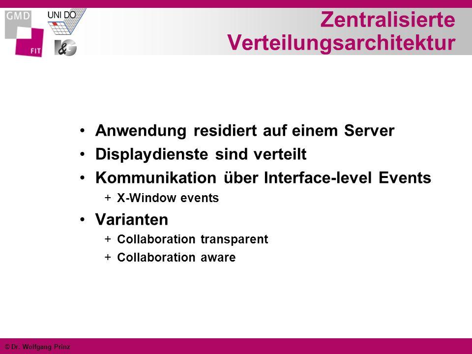 Zentralisierte Verteilungsarchitektur