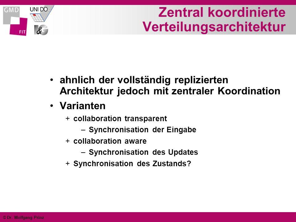 Zentral koordinierte Verteilungsarchitektur