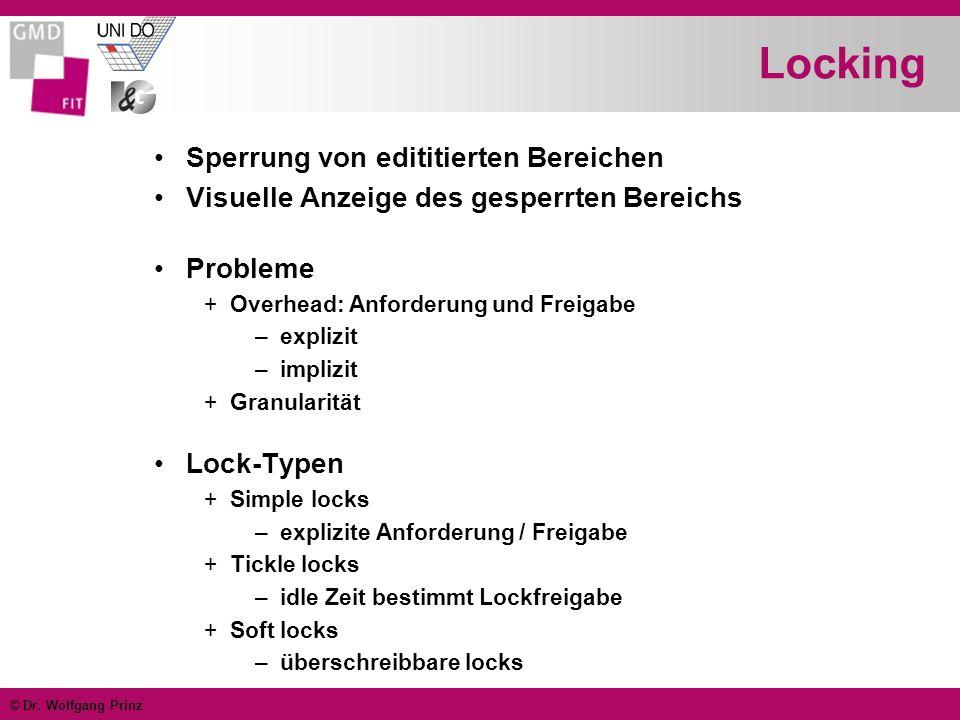 Locking Sperrung von edititierten Bereichen