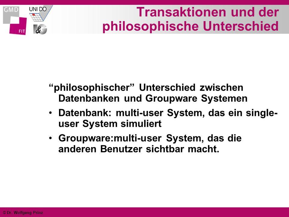 Transaktionen und der philosophische Unterschied