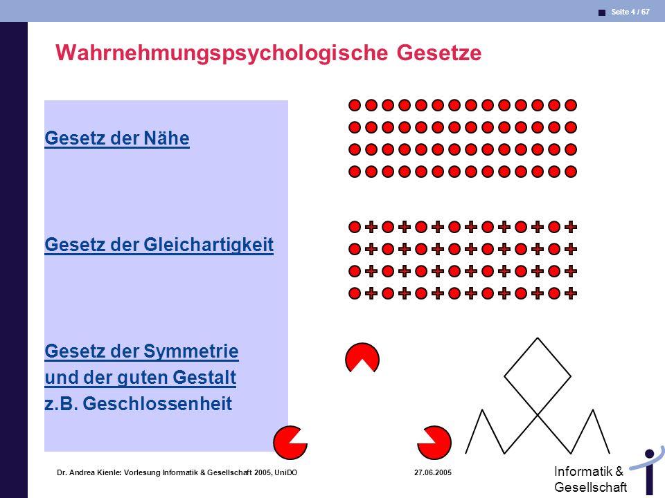 Wahrnehmungspsychologische Gesetze