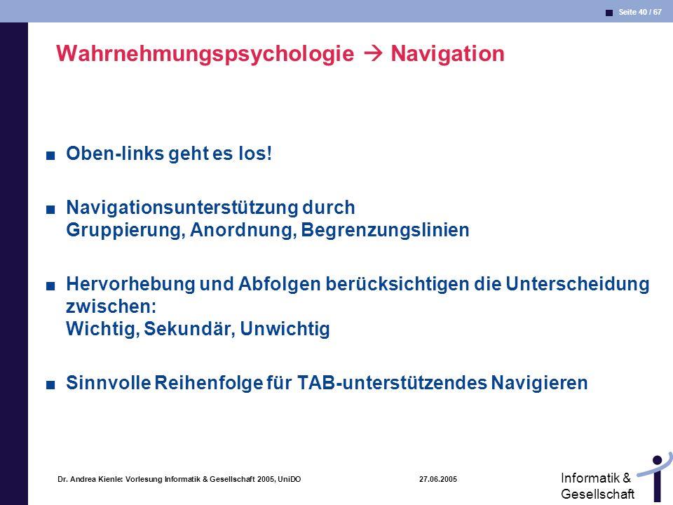 Wahrnehmungspsychologie  Navigation