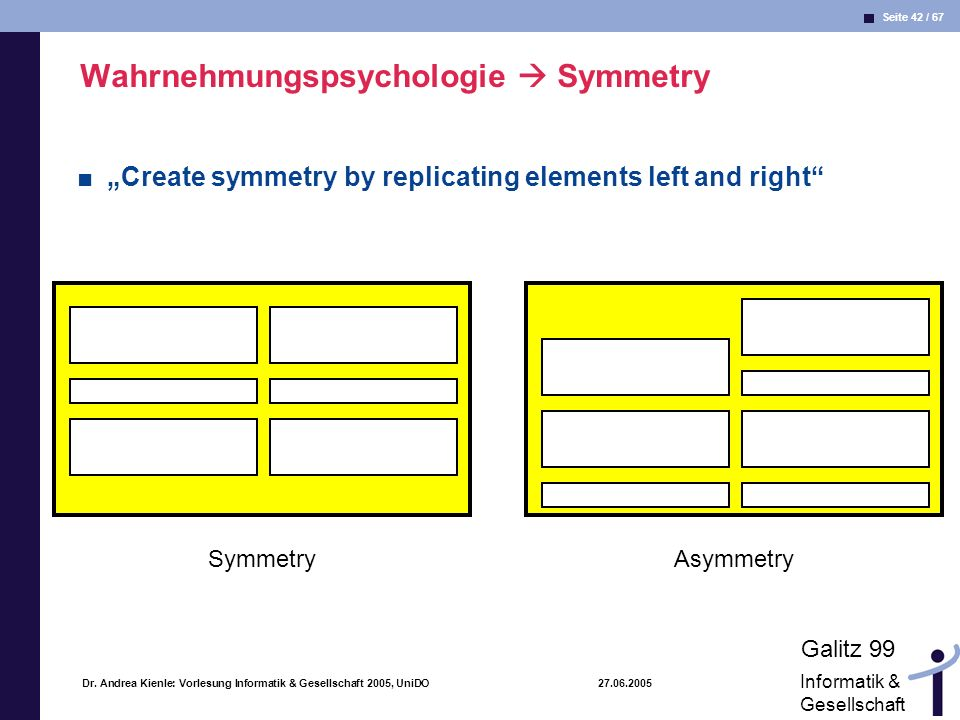 Wahrnehmungspsychologie  Symmetry