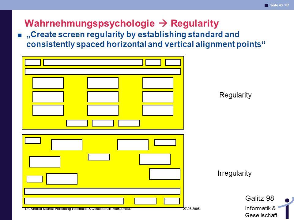 Wahrnehmungspsychologie  Regularity