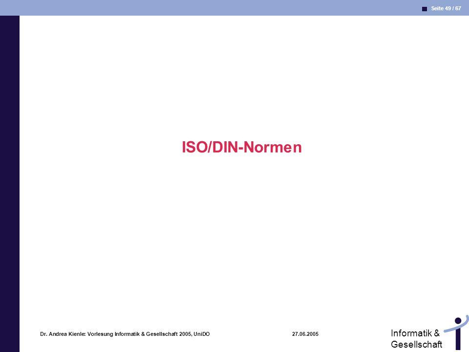ISO/DIN-Normen Dr.
