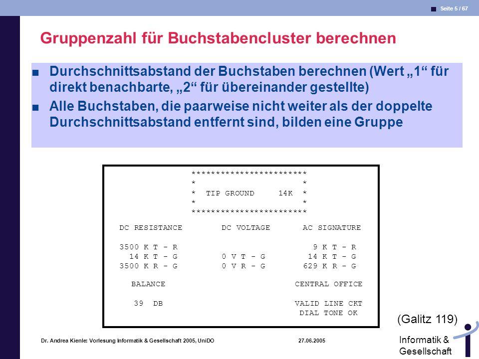 Gruppenzahl für Buchstabencluster berechnen