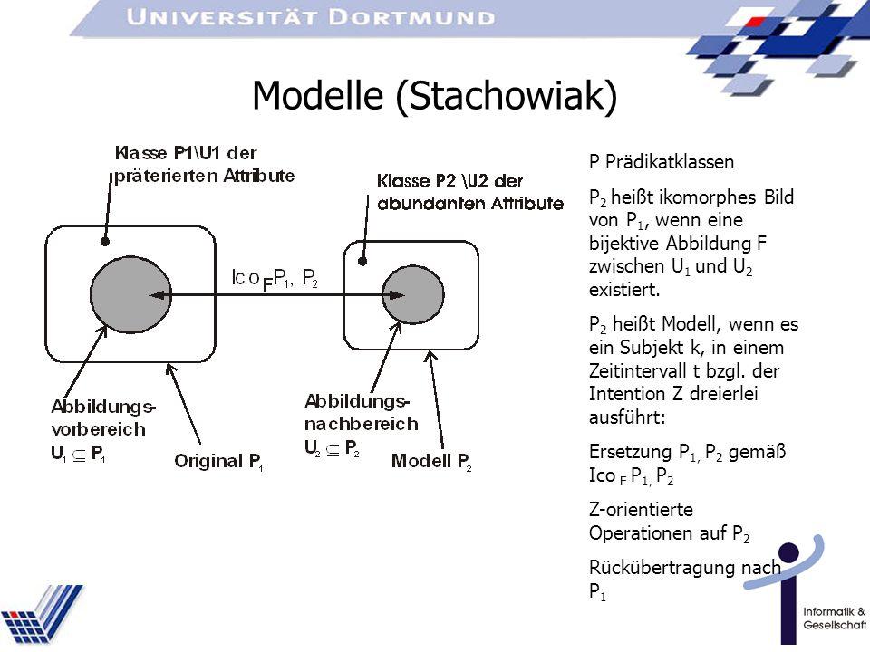 Modelle (Stachowiak) P Prädikatklassen