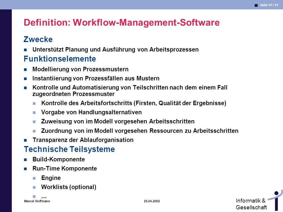 Definition: Workflow-Management-Software