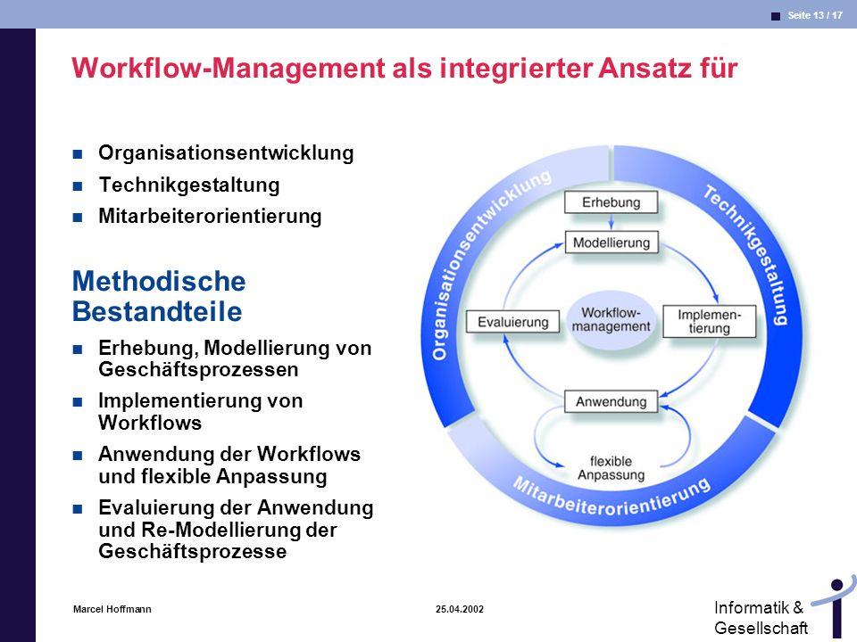 Workflow-Management als integrierter Ansatz für