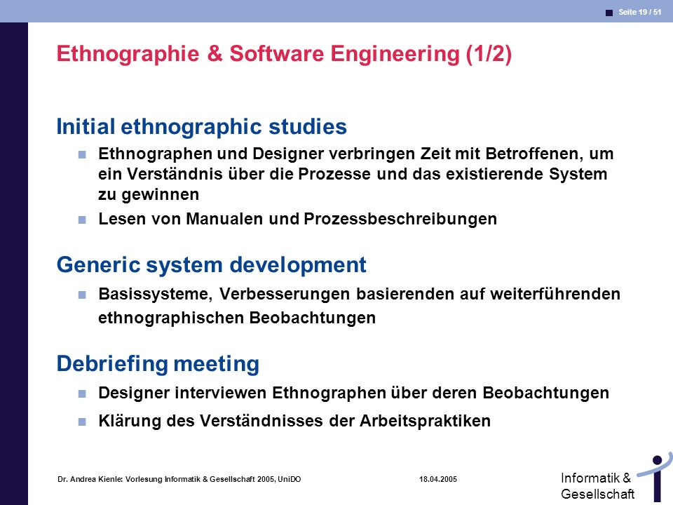 Ethnographie & Software Engineering (1/2)