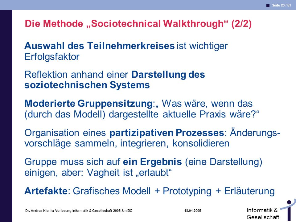 "Die Methode ""Sociotechnical Walkthrough (2/2)"