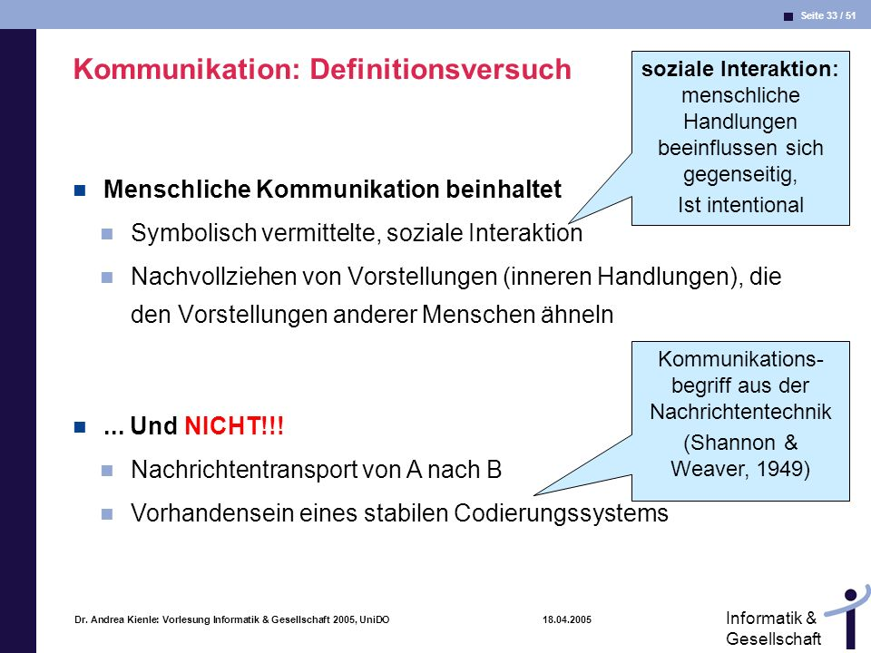 Kommunikation: Definitionsversuch