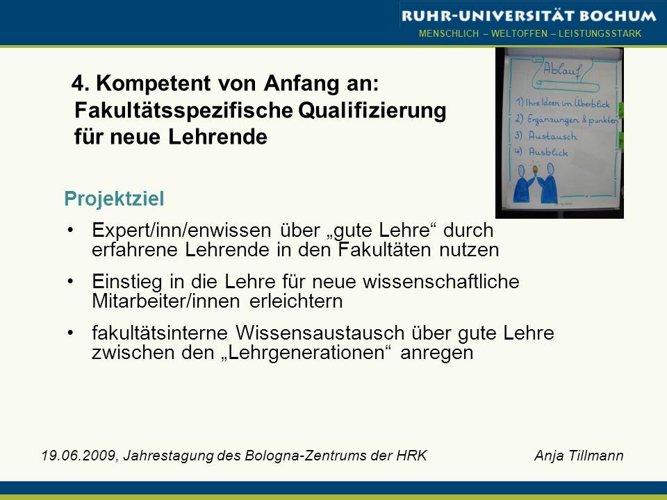 4. Kompetent von Anfang an: Fakultätsspezifische Qualifizierung für neue Lehrende