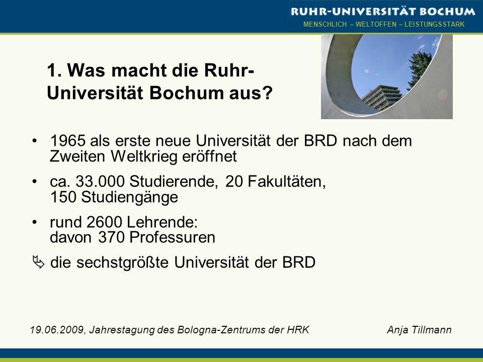 1. Was macht die Ruhr-Universität Bochum aus