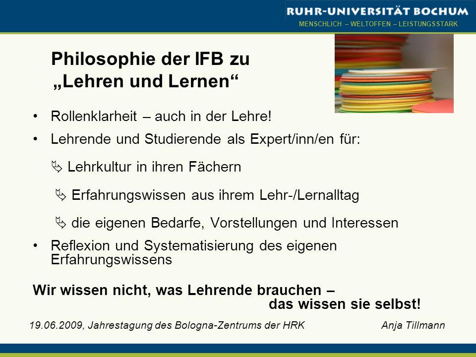 """Philosophie der IFB zu """"Lehren und Lernen"""