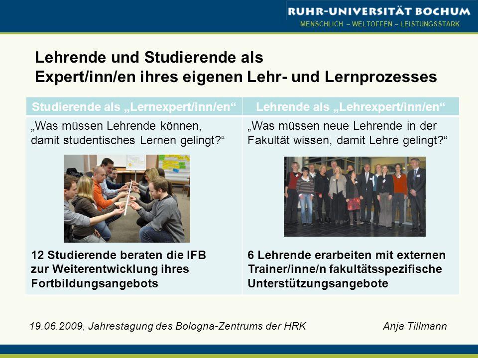 """Studierende als """"Lernexpert/inn/en Lehrende als """"Lehrexpert/inn/en"""