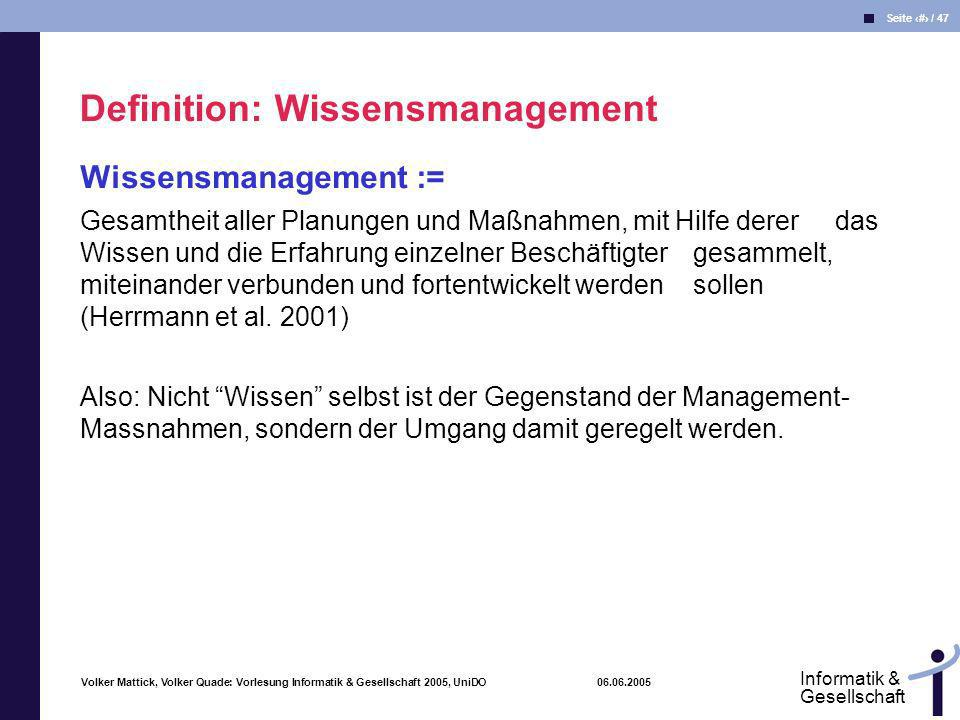 Definition: Wissensmanagement