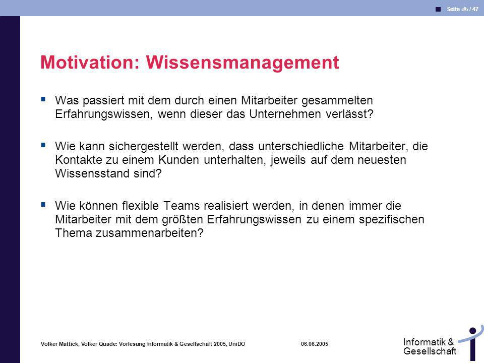 Motivation: Wissensmanagement
