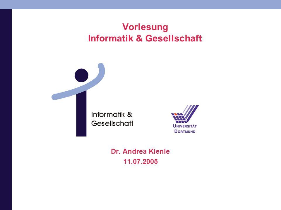 Vorlesung Informatik & Gesellschaft