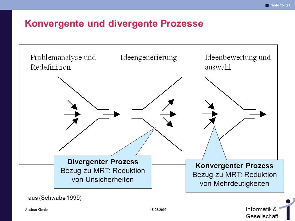 Konvergente und divergente Prozesse