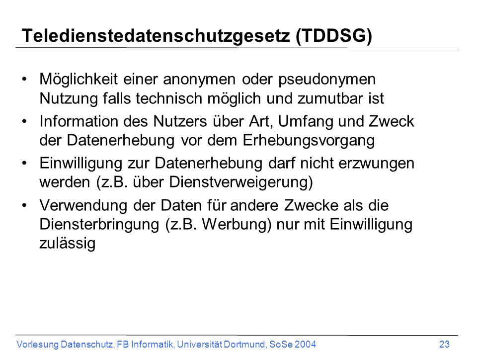 Teledienstedatenschutzgesetz (TDDSG)