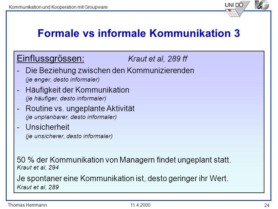 Formale vs informale Kommunikation 3