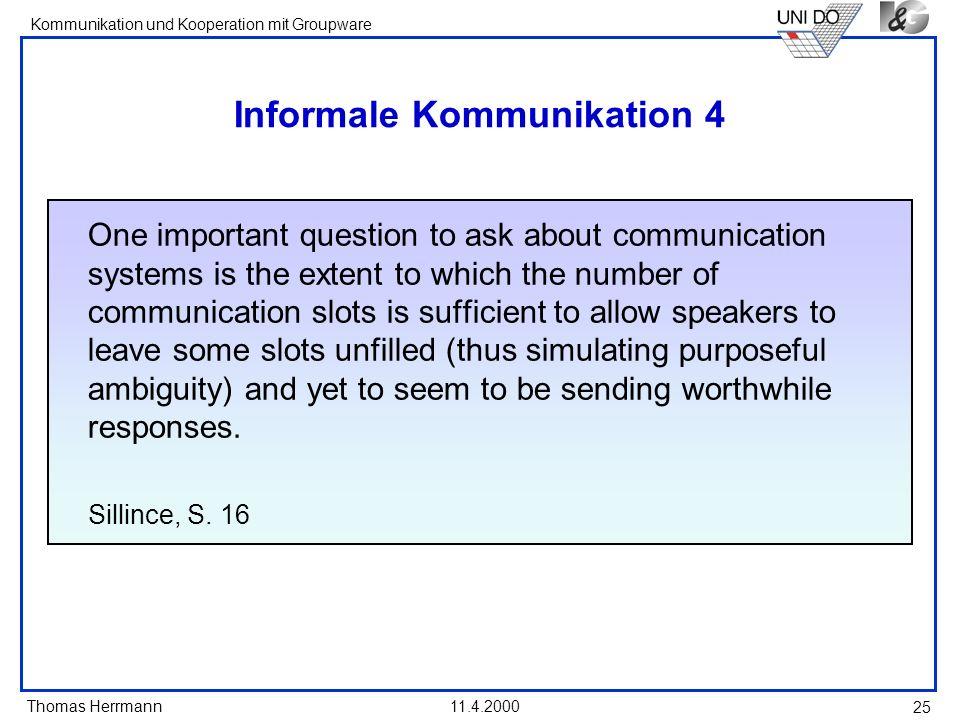 Informale Kommunikation 4