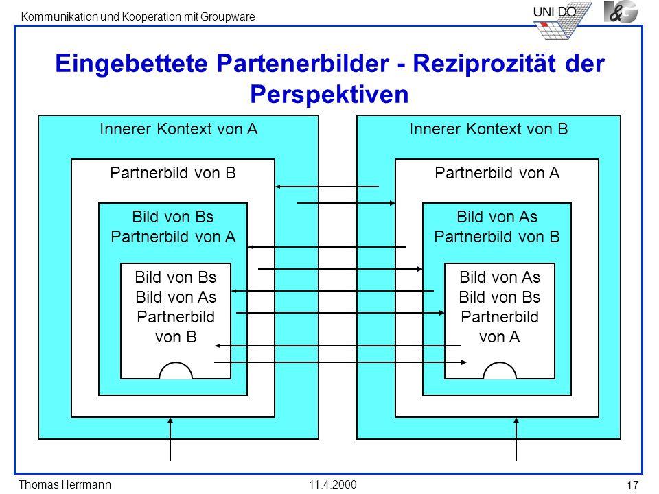 Eingebettete Partenerbilder - Reziprozität der Perspektiven