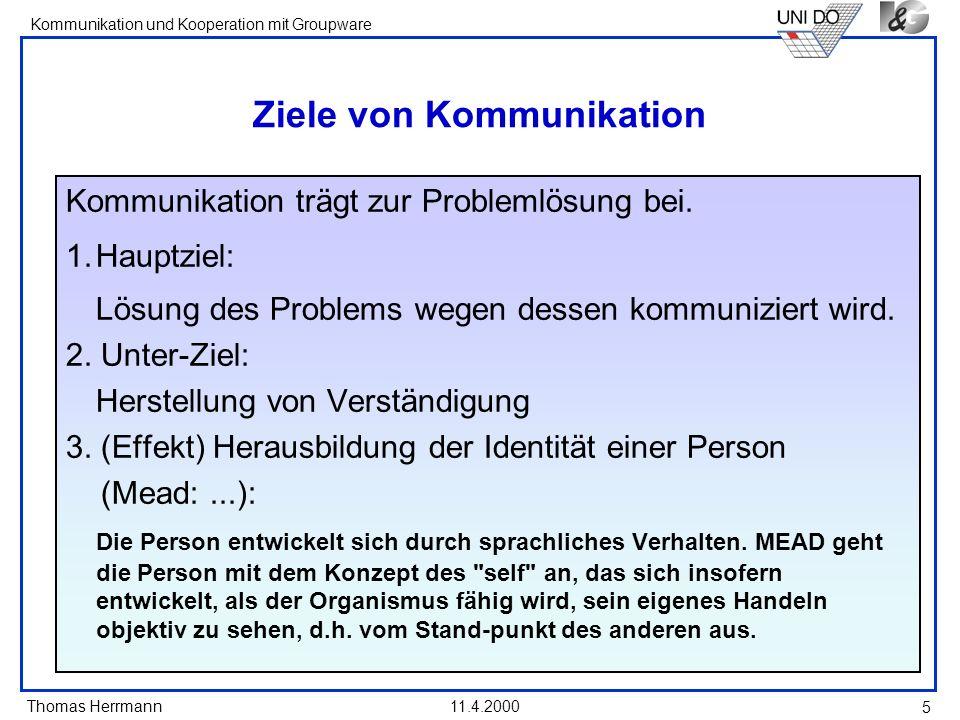 Ziele von Kommunikation