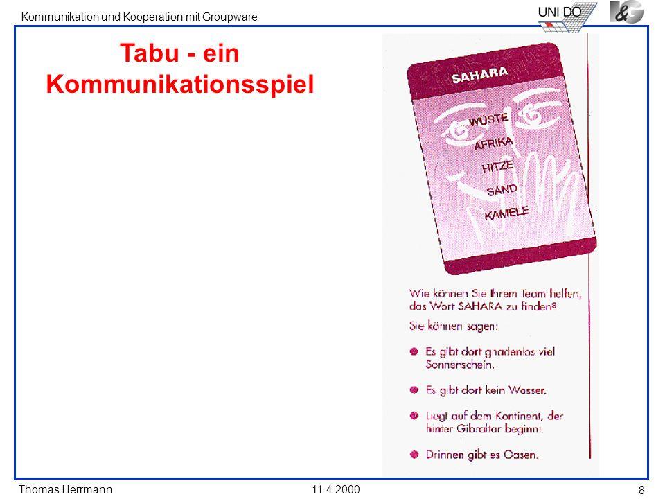 Tabu - ein Kommunikationsspiel
