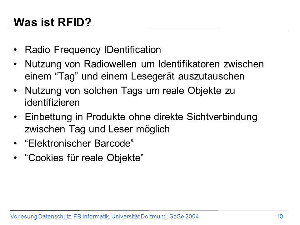 Was ist RFID Radio Frequency IDentification