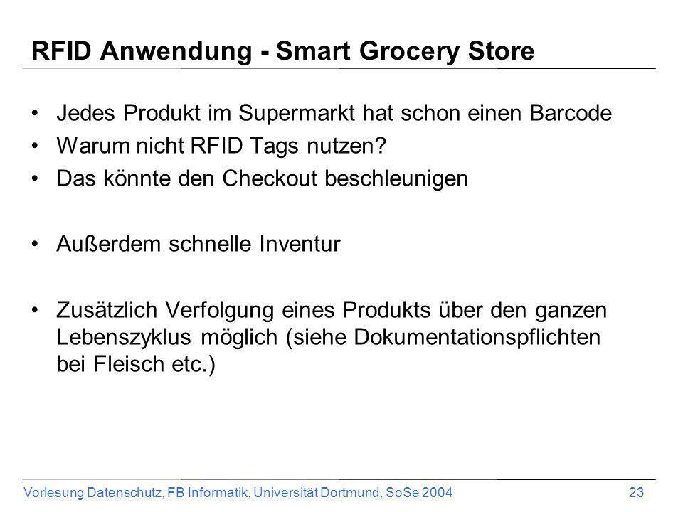 RFID Anwendung - Smart Grocery Store