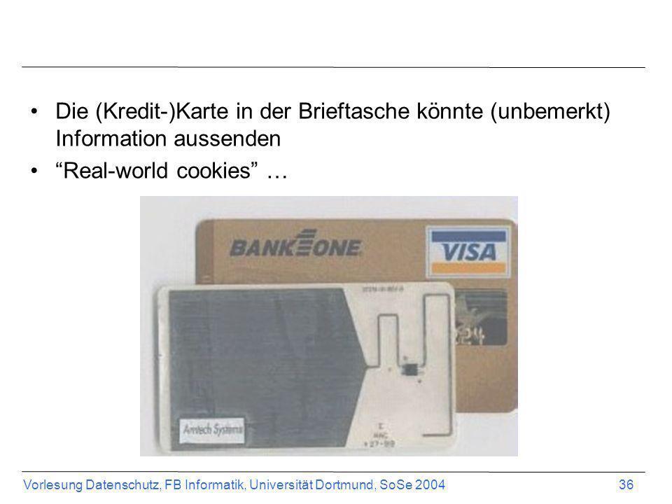Die (Kredit-)Karte in der Brieftasche könnte (unbemerkt) Information aussenden