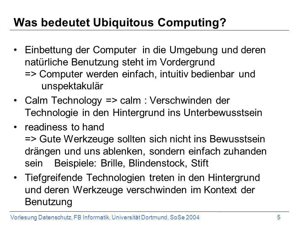 Was bedeutet Ubiquitous Computing