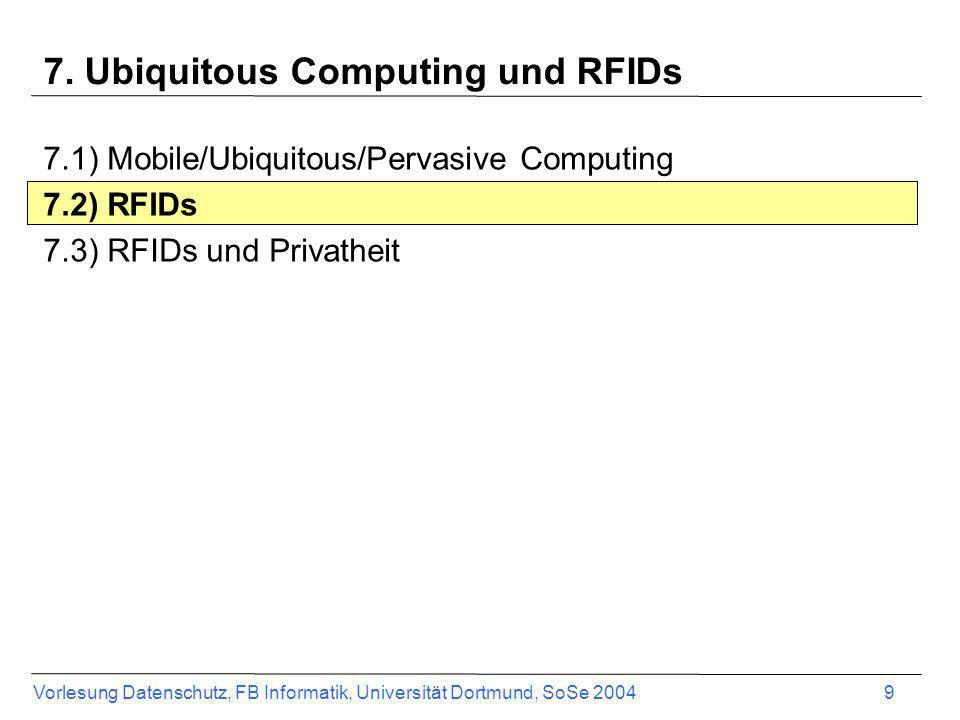 7. Ubiquitous Computing und RFIDs